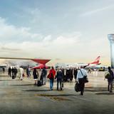 Kutaisi Airport, Arrival (Image courtesy of UNStudio; Rendering: moka-studio)
