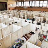 Paper Partition System 4, 2011, Japan. Photo by Voluntary Architects' Network