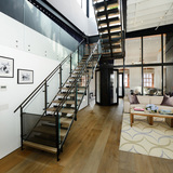 Greenwich Street Penthouse Loft Renovation in New York, NY by Turett Collaborative Architects