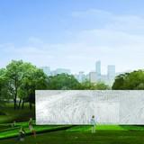 3rd-prize WKCD Arts Pavilion proposal by Hestia & Vish Limited. Image via via westkowloon.hk