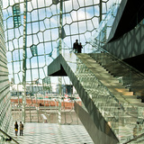 Olafur Eliasson designed the facade for the Harpa Reykjavik Concert Hall and Conference Center, 2011. Photo: Nic Lehoux. Image courtesy of MIT Council for the Arts.