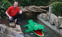 David Fautley created a crocodile as part of his selection process for Legoland. 'It was partly to do with the fact that I had a lot of green bricks.' (The Guardian; Photograph: Legoland Windsor)