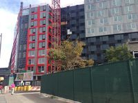 B2 modular tower at the site of Pacific Park, formerly known as Atlantic Yards. Janet Babin/WNYC