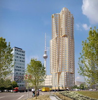 This hotly debated Gehry tower is only one of over 20 new residential projects in the planning or construction stages around Berlin's Alexanderplatz square.