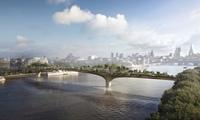 The hanging gardens of new Babylon … Thomas Heatherwick's proposed Thames bridge. (The Guardian; Photograph: Arup)