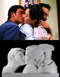Top: Kim's Bin-Jip/ 3-Iron Bottom: Wang Du's The Kiss