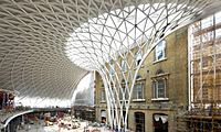Scaling new heights ... the new concourse at King's Cross