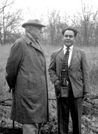 Frank Lloyd Wright and Pedro Guerrero, 1949. Credit- Keneji Domoto