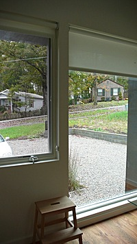 View out picture window in kitchen