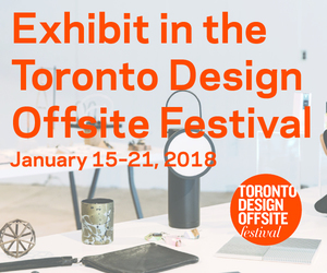 Call for Submissions: Exhibit in the Toronto Design Offsite Festival, January 2018