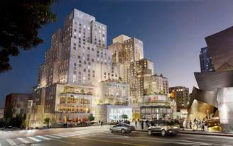 Frank Gehry's Grand Avenue Project files for construction permits with City of Los Angeles