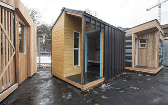 Portland State architecture students build sleeping pods for city's homeless