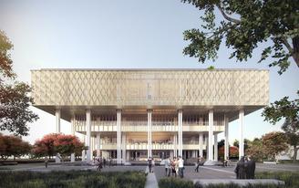Groundbreaking at Tainan Public Library