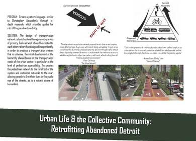 Urban Life & the Collective Community: Retrofitting Abandoned Detroit