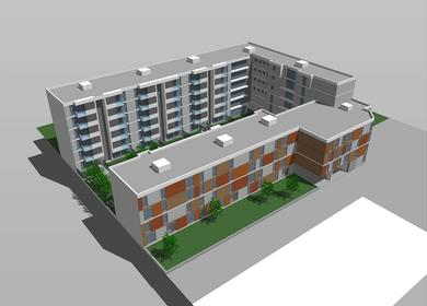 Social housing complex (125 apartments).