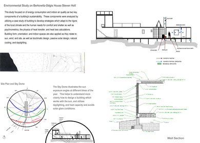 Environmental Study on Berkowitz-Odgis House Steven Holl