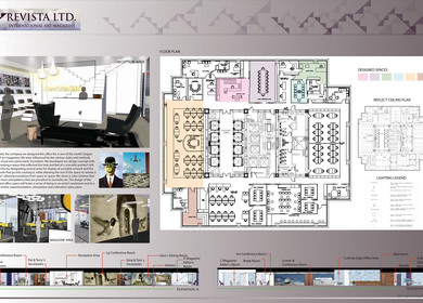 a large office design