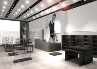 Design of Calvin Klein Stores (CK Jeans, CK Underwear, CK)