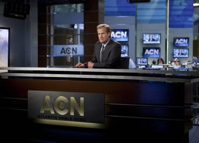 HBO Newsroom globe and desk