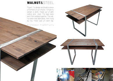 Walnut and Steel