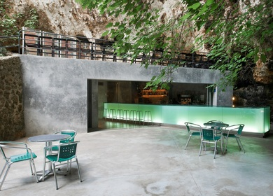 Bar in the Caves of Porto Cristo. Majorca. Spain
