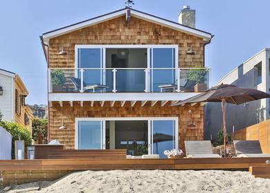 Malibu Architecture in Beachfront Home Utilizes Occam's Razor Principle