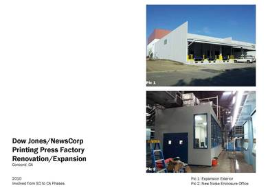 Dow Jones/NewsCorp Printing Press Factory Renovation/Expansion - SAMPLE