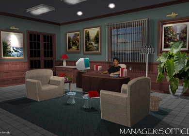 Interior Office work for 2 level office/ Plus Cable Company