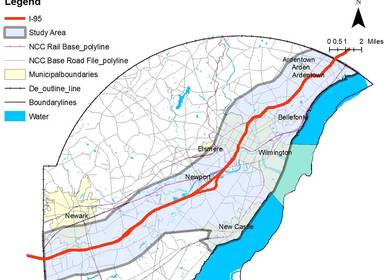 """• UTC project """"Understanding the Impacts of Climate Change on the Interstate 95 Transportation Corridor in Maryland and Delaware"""":"""
