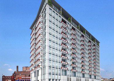 2002 740 W Fulton High Rise Condos - Rendering and Photo (Design Development and CD's)