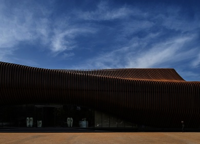 Aedas-designed, highly sculptural LAND Experience Center in China now opens
