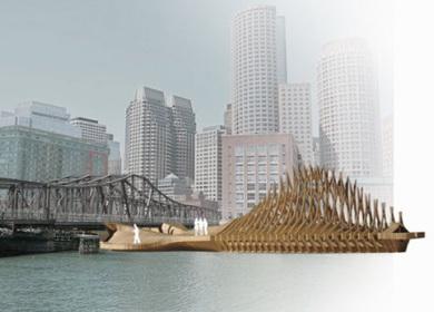 Northern Avenue Bridge, Pier and Multi-cultural Pavilion