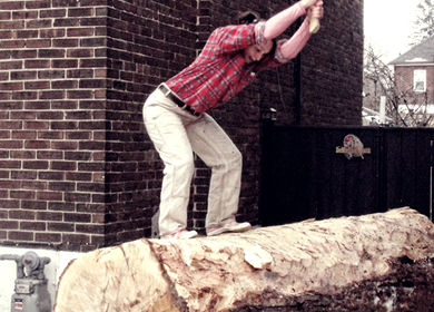 Log Chop Bench