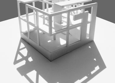 Courtyard Pavilion + nine square problem