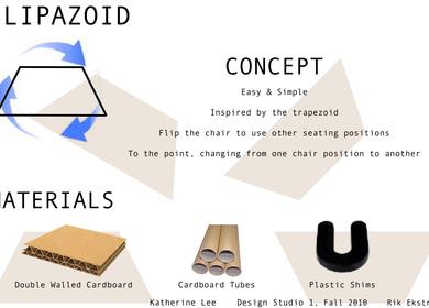 Cardboard Chair, Flipazoid
