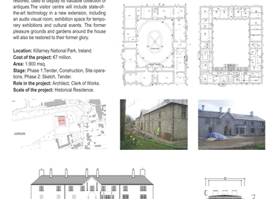 Restoration of Killarney House and Pleasure Grounds and Gardens.