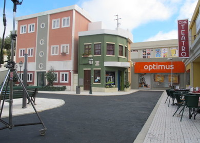 Open air scenographic city