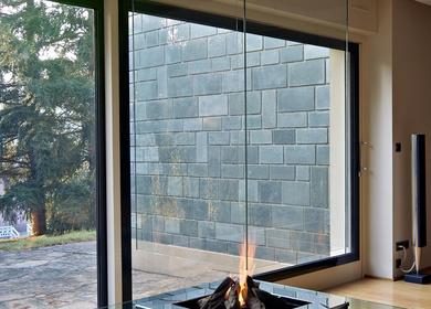 Glass fireplace / cheminée verre