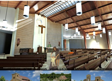 3d Visualization - Church Rendering