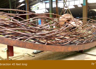 Dream Boat: Copper Fabrication Sculpture