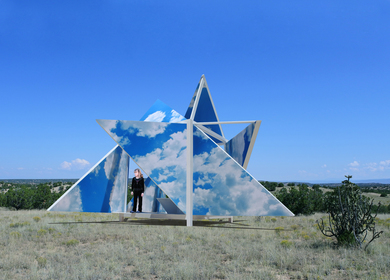 The Broken Sky Pavilion,a merging of photography and architecture.