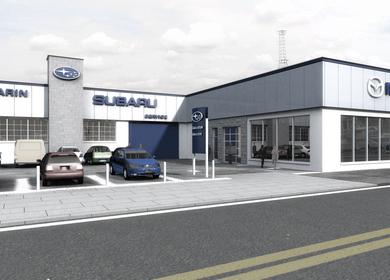 Subaru dealership facility