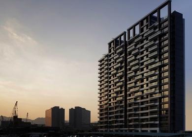 Aedas designs a modern façade with dancing balconies for a new residential development in Taiwan