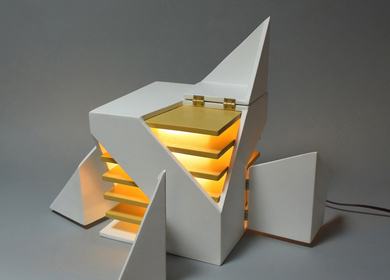 Folding Light (An interactive light sculpture)