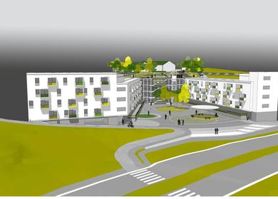 Social housing complex(60 apartments), facilities and Urbanization.
