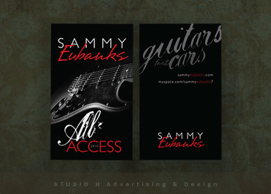 Sammy Eubanks business card designs