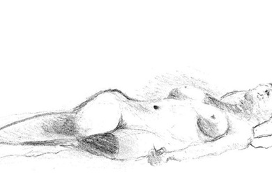 Drawing - reclining female nude