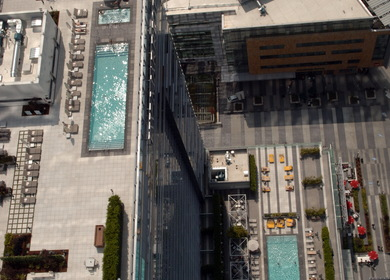 LA Live - Ritz Carlton Hotel & Marriott Hotel Rooftop Pools