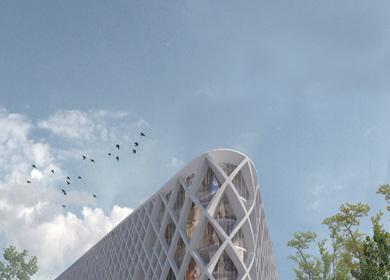 Ljubljana Library - Competition (CVDB arquitectos and Tiago Filipe Santos)