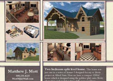 Two Bedroom Split Level Home.
